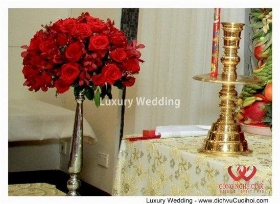 Trang trí nhà đám cưới rồng phụng