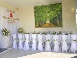 Trang trí gia tiên đẹp ngày cưới