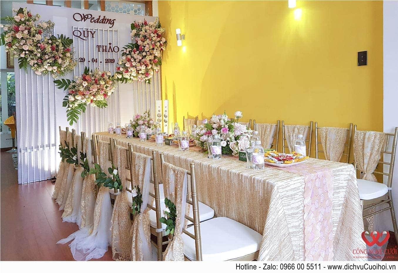 Trang trí nhà đám cưới, dịch vụ cưới hỏi
