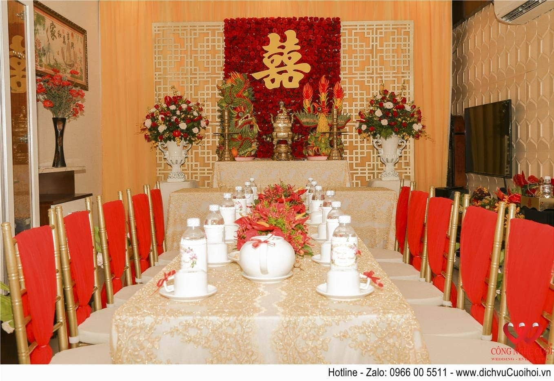 Trang trí lễ gia tiên, trang trí đám cưới tại nhà