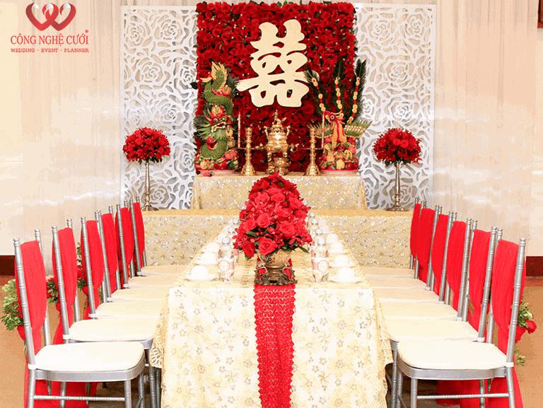 Trang trí nhà đám cưới, dịch vụ cưới hỏi trọn trọn gói