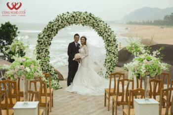 Cổng hoa tươi đám cưới đẹp