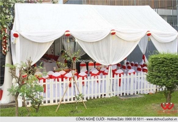 Dịch vụ cưới hỏi, Trang trí gia tiên, cho thuê bàn ghế, khung rạp