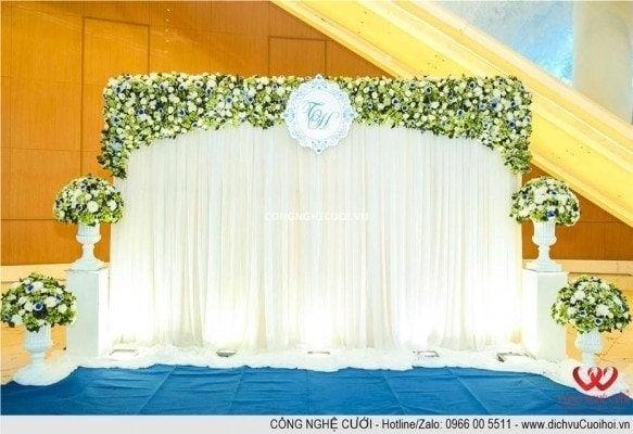 Trang trí lễ gia tiên, trang trí tiệc cưới, Backdrop, dịch vụ cưới hỏi trọn gói