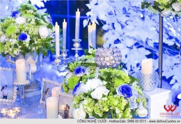Trang trí lễ gia tiên, trang trí tiệc cưới, bàn gallery,, dịch vụ cưới hỏi trọn gói