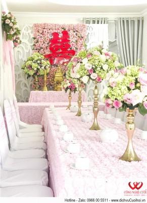 Trang trí lễ gia tiên, dịch vụ cưới hỏi trọn gói Công Nghệ Cưới