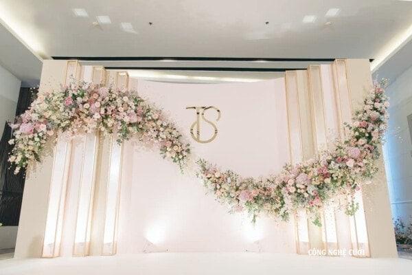 100+ Ý tưởng trang trí backdrop tiệc cưới