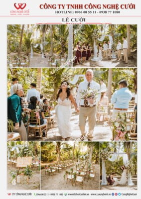 Trang trí lễ cưới ngoài trời
