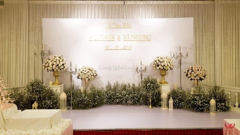 Trang trí sân khấu, trang trí tiệc cưới