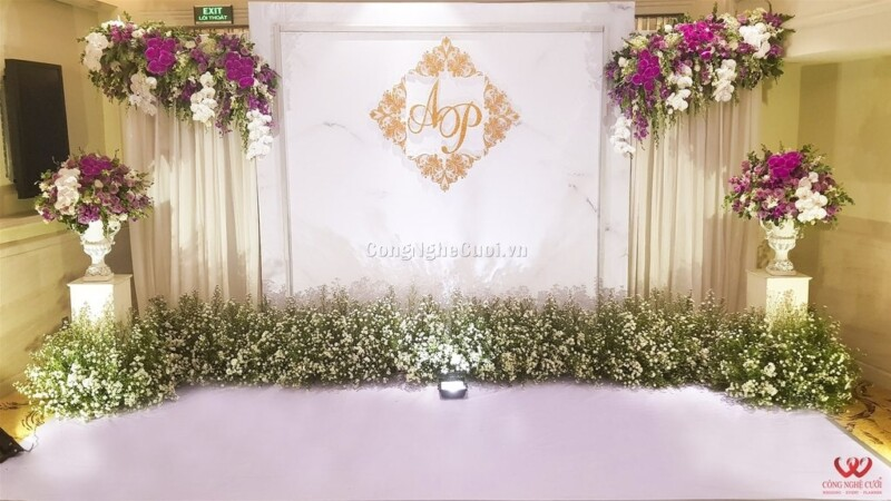 Trang trí backdrop, trang trí tiệc cưới
