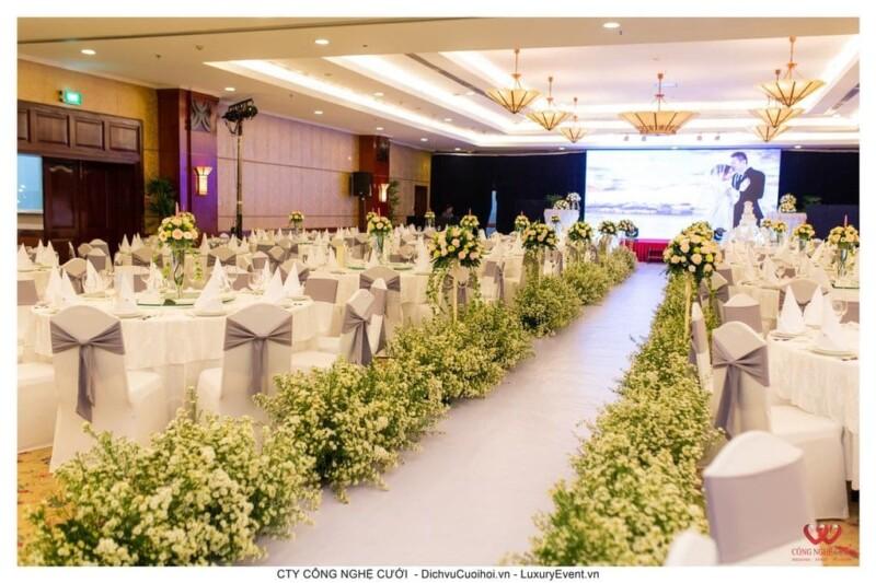 Trang trí tiệc cưới nhà hàng Rex Hotel