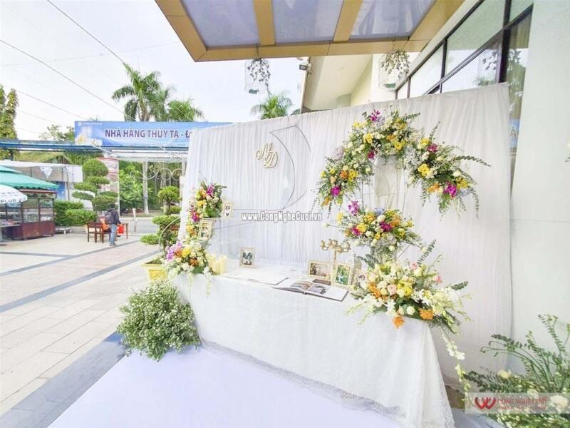 Trang trí tiệc cưới nhà hàng Thủy Tạ Đầm Sen