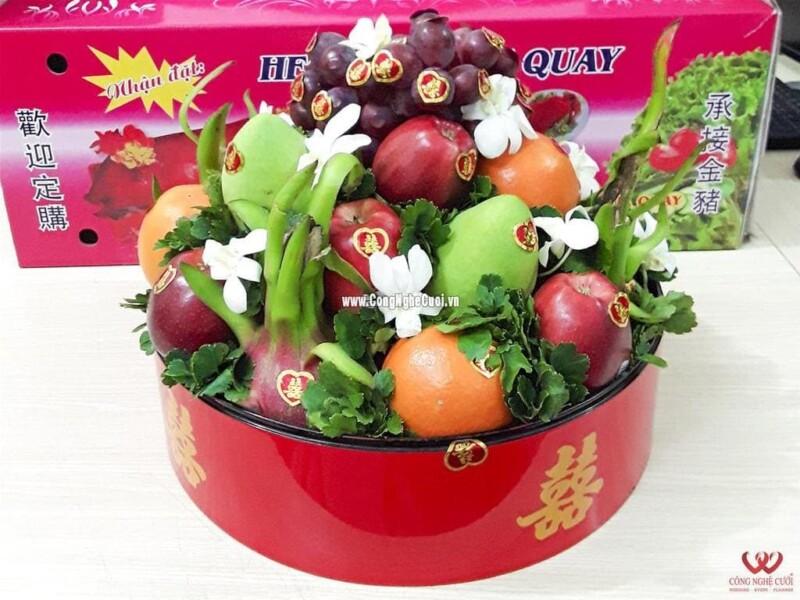 Mâm quả trái cây ngũ quả cưới hỏi